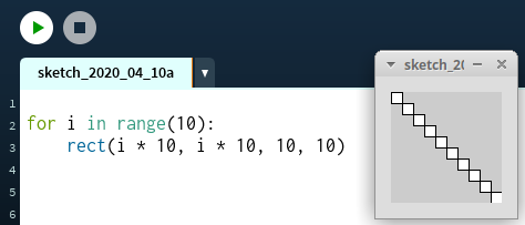 `for i in range(10):`